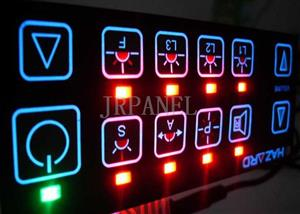 Electrical Backlit LED Membrane Switch Panel Sticker