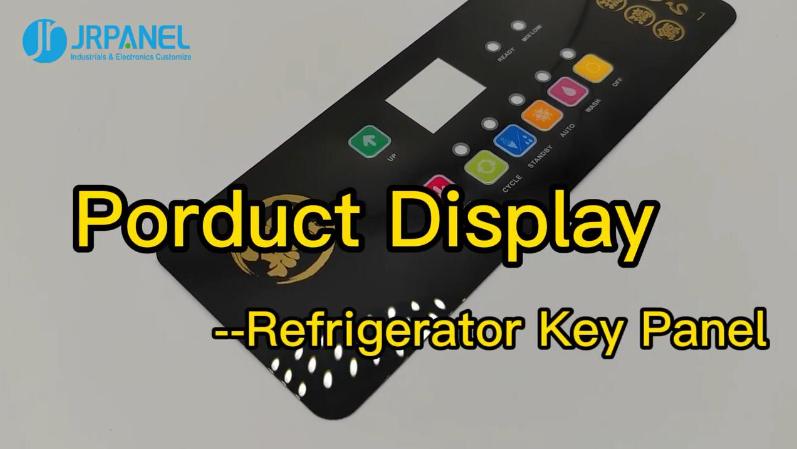 Refrigerator Membrane Keypad Control Panel--Production Display